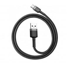 Кабель Baseus Сafule Cable USB For Type-C 2A 2M Gray+Black (CATKLF-CG1)