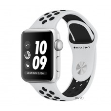 Apple Nike+ Watch Series 3 42mm GPS Silver Aluminum Case with Pure Platinum/Black Nike Sport Band (MQL32)