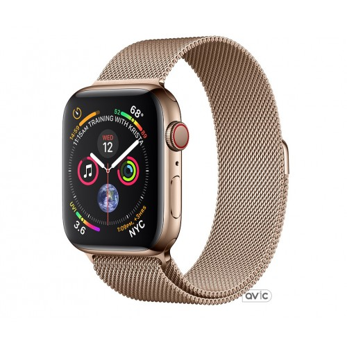 Apple Watch Series 4 (GPS + Cellular) 40mm Gold Stainless Steel Case with Gold Milanese Loop (MTUT2)