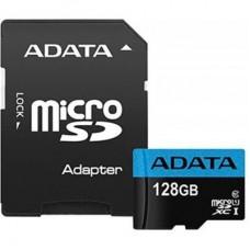 Карта памяти ADATA 128GB microSD class 10 UHS-I A1 Premier (AUSDX128GUICL10A1-RA1)