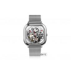 Мужские часы Xiaomi CIGA Design full hollow mechanical watches Silver