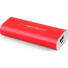 Power Bank Esperanza Powerbank 4400 mAh Red (EMP105R)