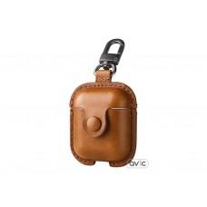 Чехол USAMS для наушников Apple AirPods LEATHER Brown