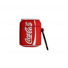 Чехол для Airpods 2 Silicone Case CocaCola