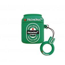 Чехол для Airpods 2 Silicone Case Heineken