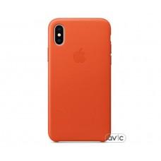Чехол для Apple iPhone X Leather Case Bright Orange (MRGK2)
