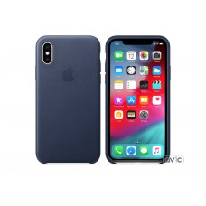 Чехол для Apple iPhone XS Leather Case Midnight Blue (MRWN2)
