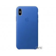 Чехол для Apple iPhone X Leather Case Electric Blue (MRGG2)