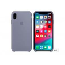 Чехол для Apple iPhone XR Silicone Case Lavender Gray Copy