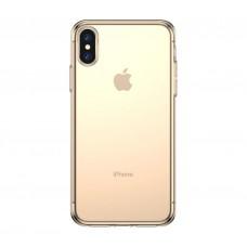 Чехол для Apple iPhone XS Baseus Силиконовый gold