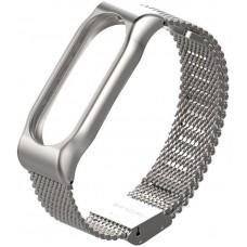 Ремешок Metallic Strap Fleet Chain For Mi Band 2 Silver