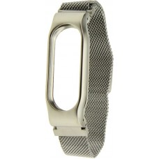 Ремешок UWatch Magnetic Stainless Steel Bracelet Wrist Strap For Miband 2 Silver