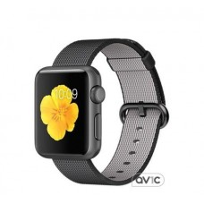 Apple Watch Sport 38mm Space Gray Aluminum Case with Black Woven Nylon (MMF62)