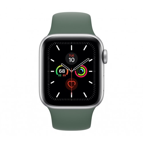 Apple Watch Series 5 (GPS+CELLULAR) 44mm Silver Aluminum Case with Sport Band Pine Green