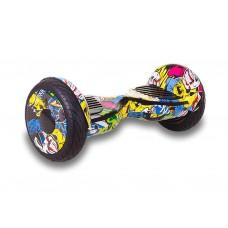 Гироборд Smart Balance Wheel Suv Premium Eboard 10,5 Граффити желтый+Mobile APP
