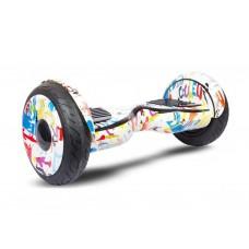 Гироборд Smart Balance Wheel Suv Premium Eboard 10,5 Граффити белый+Mobile APP