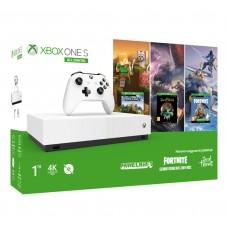 Игровая приставка Microsoft Xbox One S 1Tb White All-Digital Edition + Minecraft + Sea of Thieves + Fortnite
