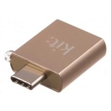 Адаптер Kit Premium 3.1 USB-C - USB-A Gold (CADPGD)