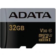 Карта памяти ADATA 32GB microSD class 10 UHS-I U3 V30 Premier Pro (AUSDH32GUI3V30G-R)