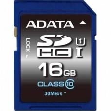 Карта памяти ADATA 16GB SDHC class 10 UHS-1 (ASDH16GUICL10-R)