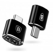 Адаптер USB Type-C Baseus USB Female To Type-C Male Adapter Converter Black (CATOTG-01)
