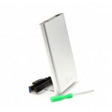 Внешний карман ProLogix SATA HDD 2.5, USB 3.0, Silver (BS-U23F)