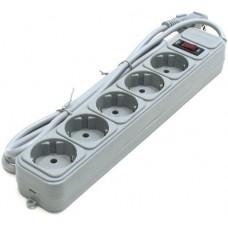 Сетевой фильтр Gembird Power Cube 5 розеток 3 м (Grey) (SPG5-G-10G)
