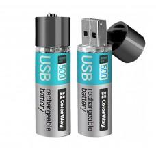 Аккумулятор ColorWay AA USB 1200 мАч 1.5 (CW-UBAA-02)